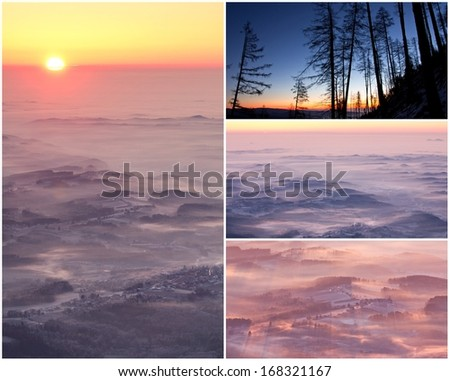 sunrise on a mountain - Shutterstock ID 168321167