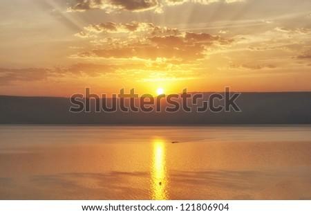 Sunrise on A Sea of Galilee