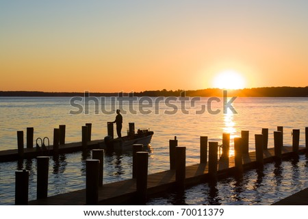 Sunrise on Elk River,Maryland