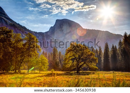 Sunrise on Half Dome, Yosemite National Park, California