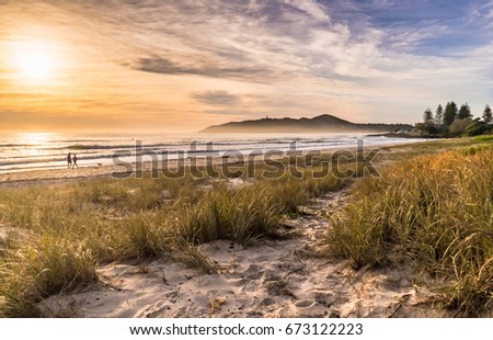 Sunrise on Main Beach, Byron Bay, Australia #673122223
