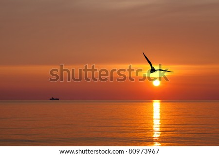 Sunrise on the Baltic Sea