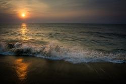 Sunrise on the Beach at Ocean City, Maryland U.S.A.
