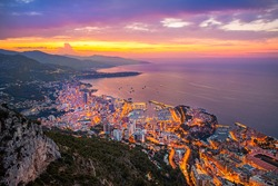 sunrise on the hill above monaco