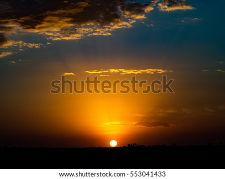 Sunrise over Africa #553041433