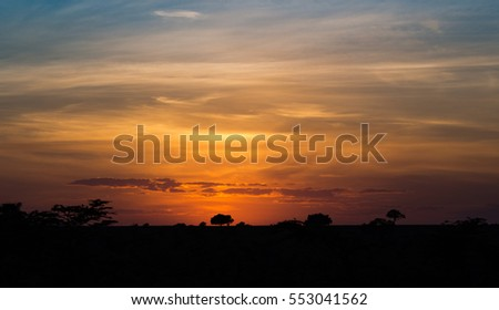 Sunrise over Africa #553041562