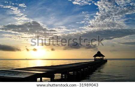 Sunrise over Ambergris Caye, Belize