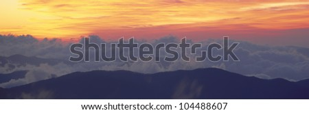 Sunrise over Clingman's Dome, Great Smoky Mountain National Park, Tennessee