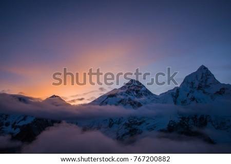 Sunrise over Everest. #767200882