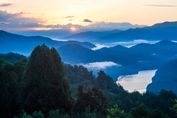 Sunrise over Great Smoky Mountains National Park