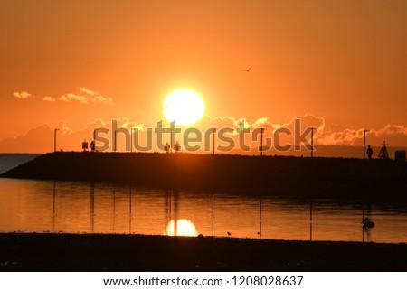 Sunrise Over Jetty #1208028637