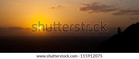 Sunrise over Makapu'u point and lighthouse on the coast of Oahu.