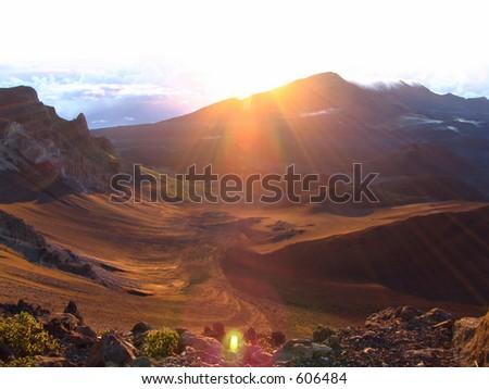 Sunrise Over Mount Hale'akala