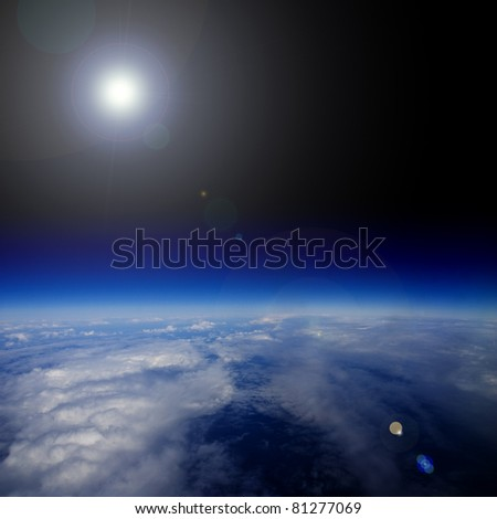 Sunrise over planet Earth.