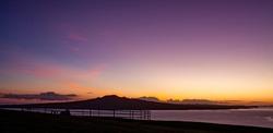Sunrise over Rangitoto Island, New Zealand