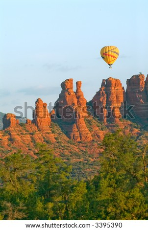 sunrise over red rocks of sedona arizona
