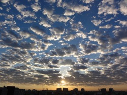 Sunrise over SOMA, San Francisco.