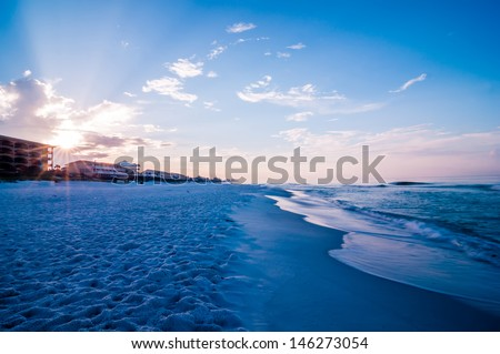 sunrise over sunshine state florida beach