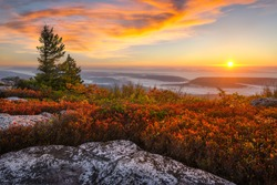 Sunrise over the Allegheny Front from atop Bear Rocks in West Virginia's Dolly Sods Wilderness