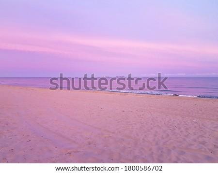 Sunrise over the Baltic sea in Kaliningrad Сток-фото ©