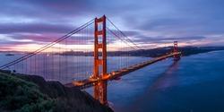 Sunrise over the Golden Gate Bridge California