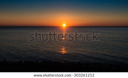 Sunrise over the North Pacific.