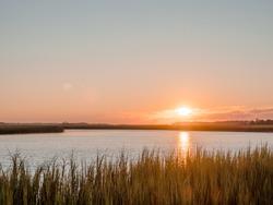 Sunrise over the salt marsh