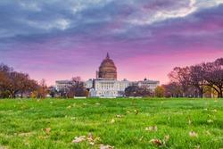 Sunrise over US Capitol in Washington, DC