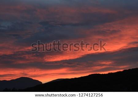 Sunrise Red sunrise Morning #1274127256