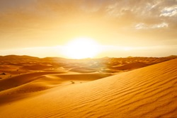 sunrise sahara desert dunes morocco merzouga