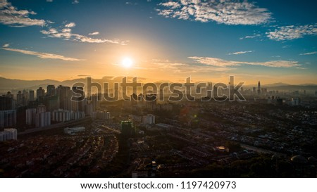 Sunrise shot in Kuala Lumpur with a glimpse of the inner city skyling.
