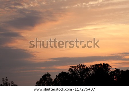 sunrise, showing promise and the glory of a new day, or sunset demonstrating the end