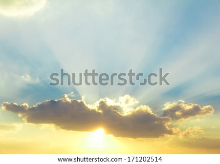 Sunrise Sky With Lighted Clouds  #171202514