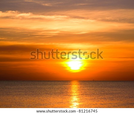 Sunrise Sky With Lighted Clouds