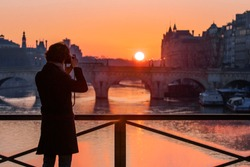 sunrise sunset Paris photography light