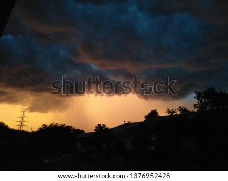 Sunrise Sunset Sky #1376952428