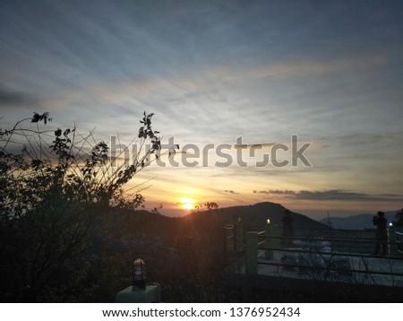 Sunrise Sunset Sky #1376952434