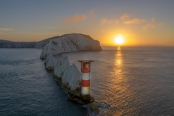 Sunrise the needles isle of wight