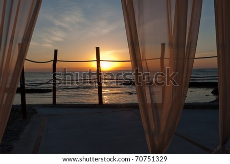 Sunrise thru the Gazebo curtains