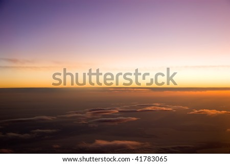 Sunrise view from the plane