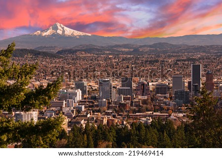 sunrise view of portland ...