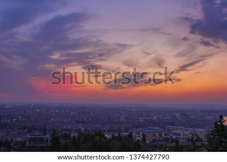 Sunrise view of verona city, italy #1374427790