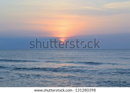 Sunrise. Virginia beach