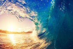 Sunrise Wave, Tropical Island Atoll, Nature Untouched Paradise