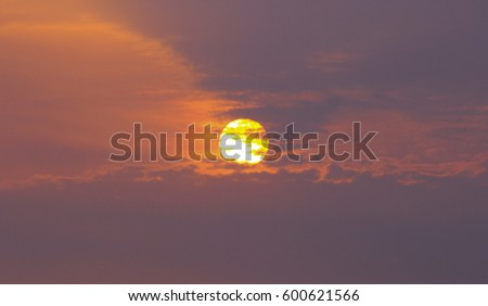 sunrise with clouds #600621566