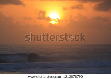 sunrise with waves #1213878790