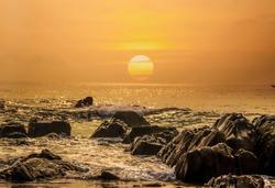 sunrises at yarada beach visakhapatnam india,the sunrises view looking more beautiful