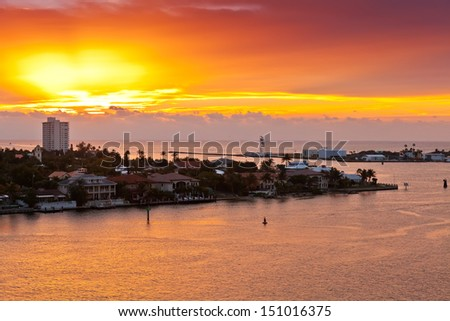 Sunrises in Port Everglades in Ft. Lauderdale, Florida