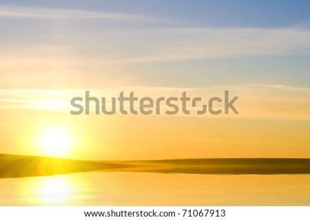 Sunrising on the sea