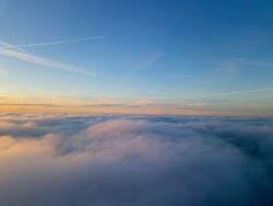 Sunset above clouds - Germany